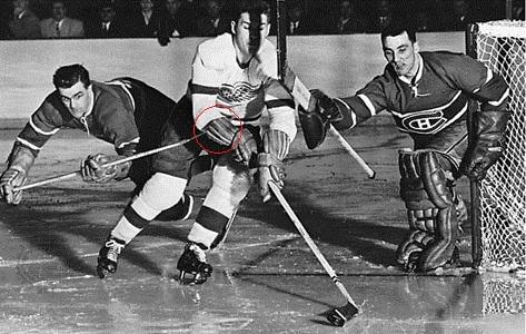 hokejové rukavice v minulosti